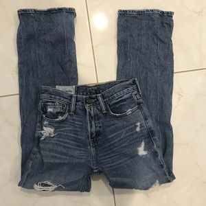 Abercrombie Kids Girl's Medium Wash Distressed